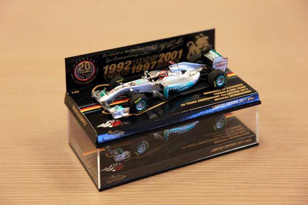 【2011年ベルギーGP限定】1/43 ミハエル・シューマッハ20周年記念ミニカー