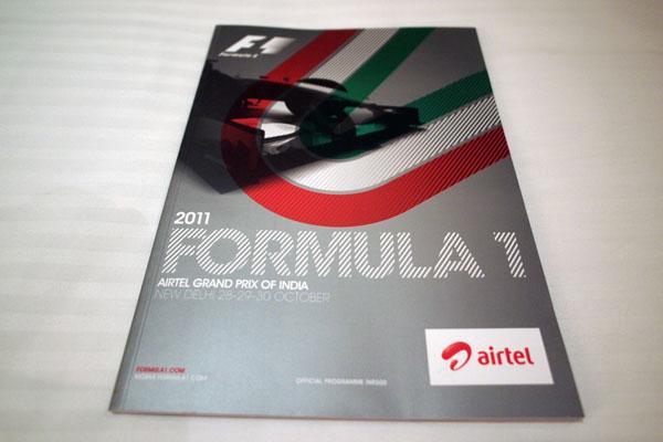 【限定販売】2011年インドGP・オフィシャルプログラム
