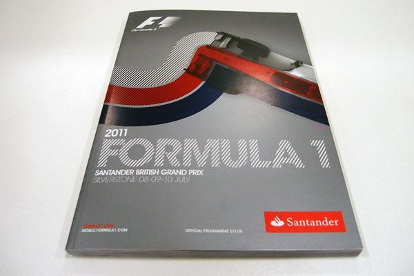 【限定販売】2011年イギリスGP・オフィシャルプログラム