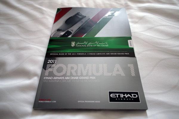 【限定販売】2011年アブダビGP・オフィシャルプログラム