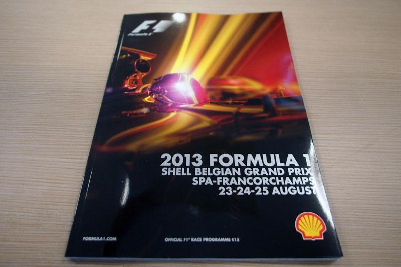 【限定販売】2013年ベルギーGPオフィシャルプログラム