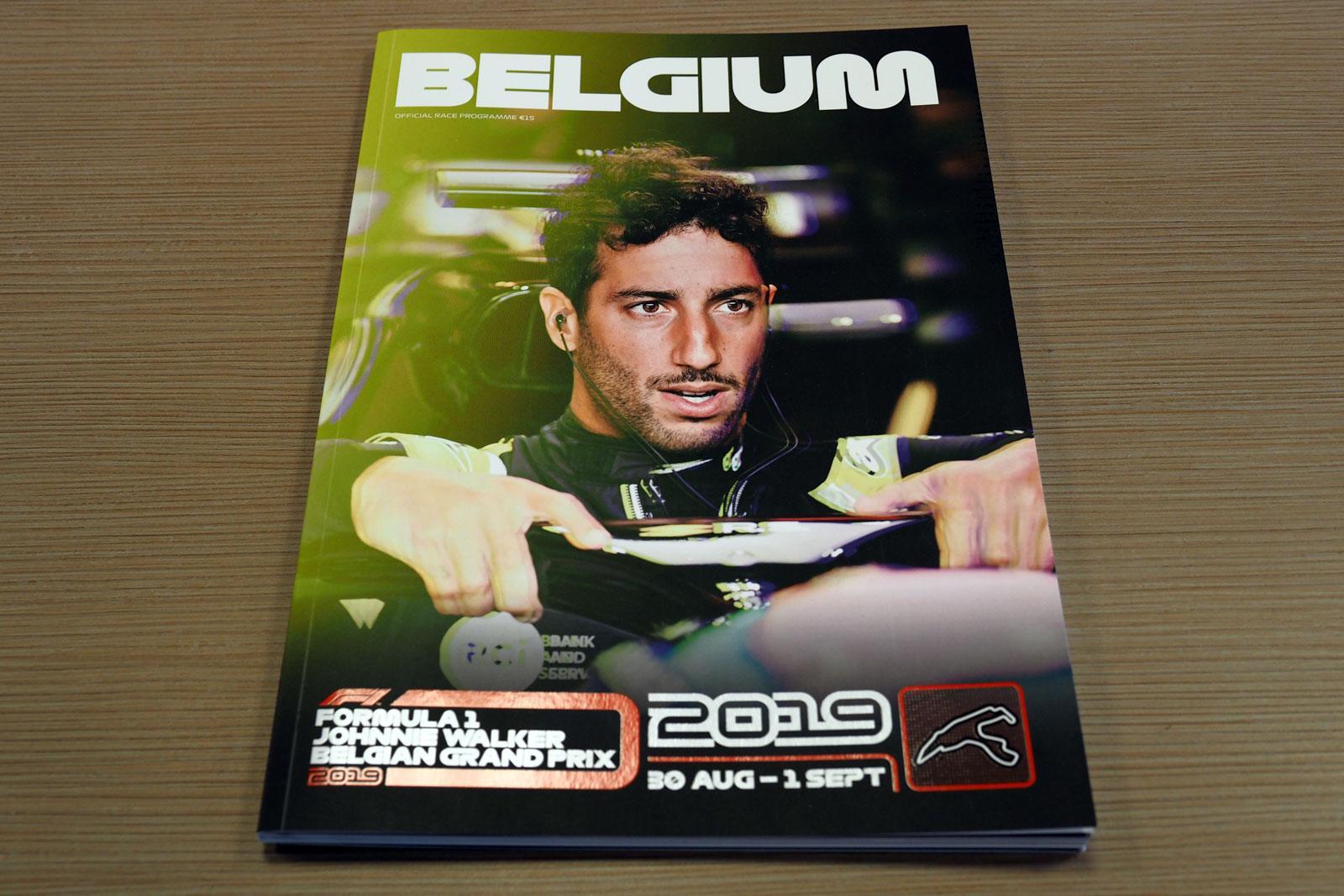 【限定販売】2019年ベルギーGPオフィシャルプログラム