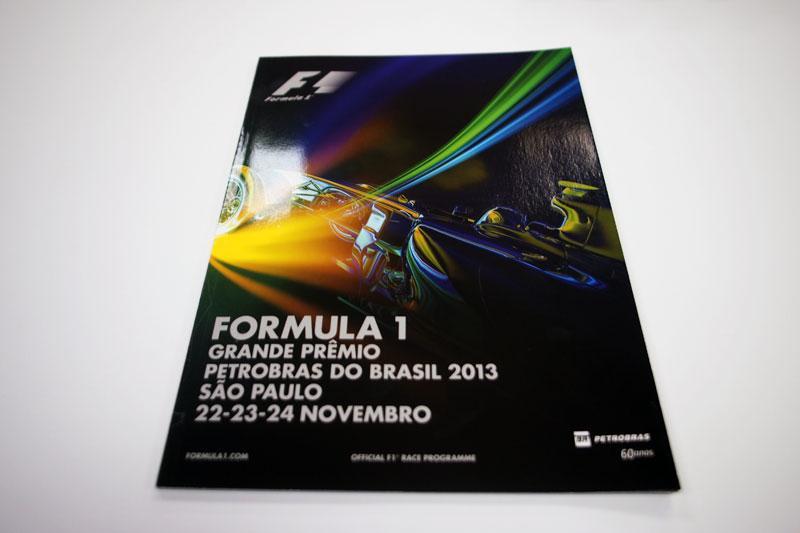 【限定販売】2013年ブラジルGPオフィシャルプログラム