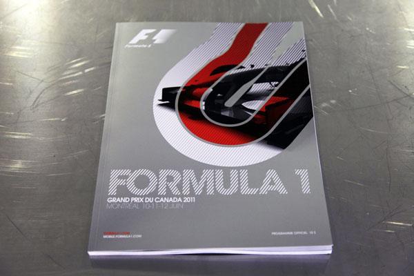 【限定販売】2011年カナダGP・オフィシャルプログラム