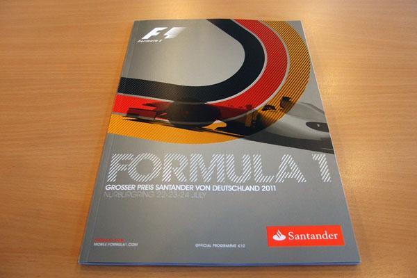 【限定販売】2011年ドイツGP・オフィシャルプログラム