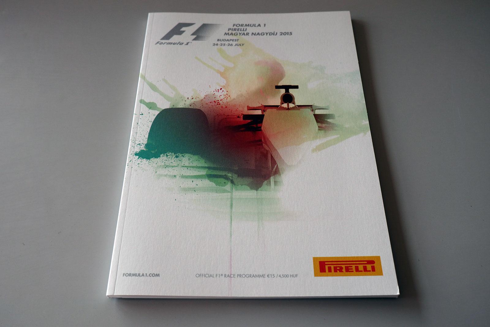 【限定販売】2015年ハンガリーGPオフィシャルプログラム