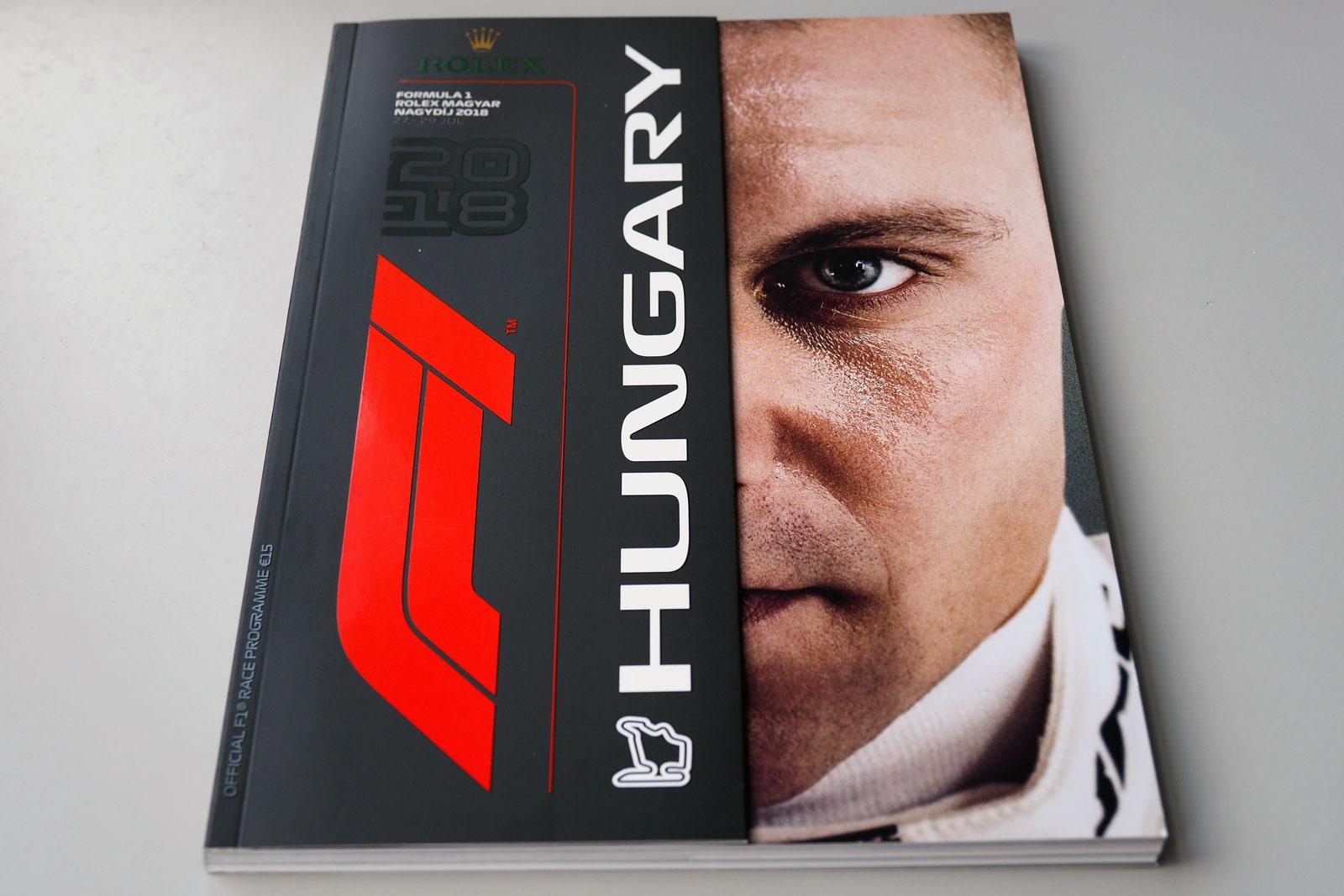 【限定販売】2018年ハンガリーGPオフィシャルプログラム
