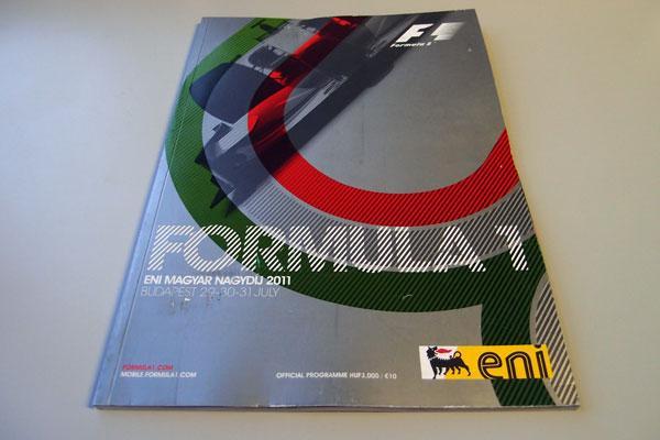 【限定販売】2011年ハンガリーGP・オフィシャルプログラム