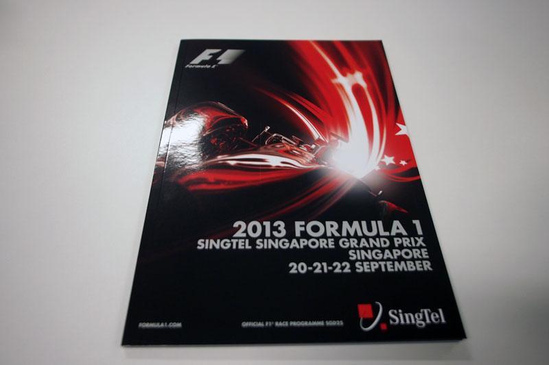 【限定販売】2013年シンガポールGPオフィシャルプログラム