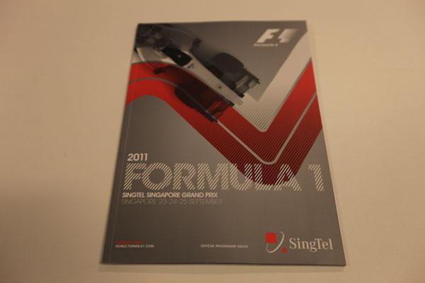 【限定販売】2011年シンガポールGP・オフィシャルプログラム