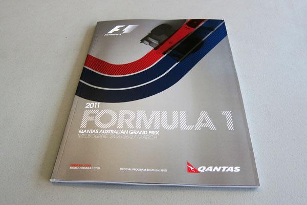 【限定販売】2011年オーストラリアGP・オフィシャルプログラム