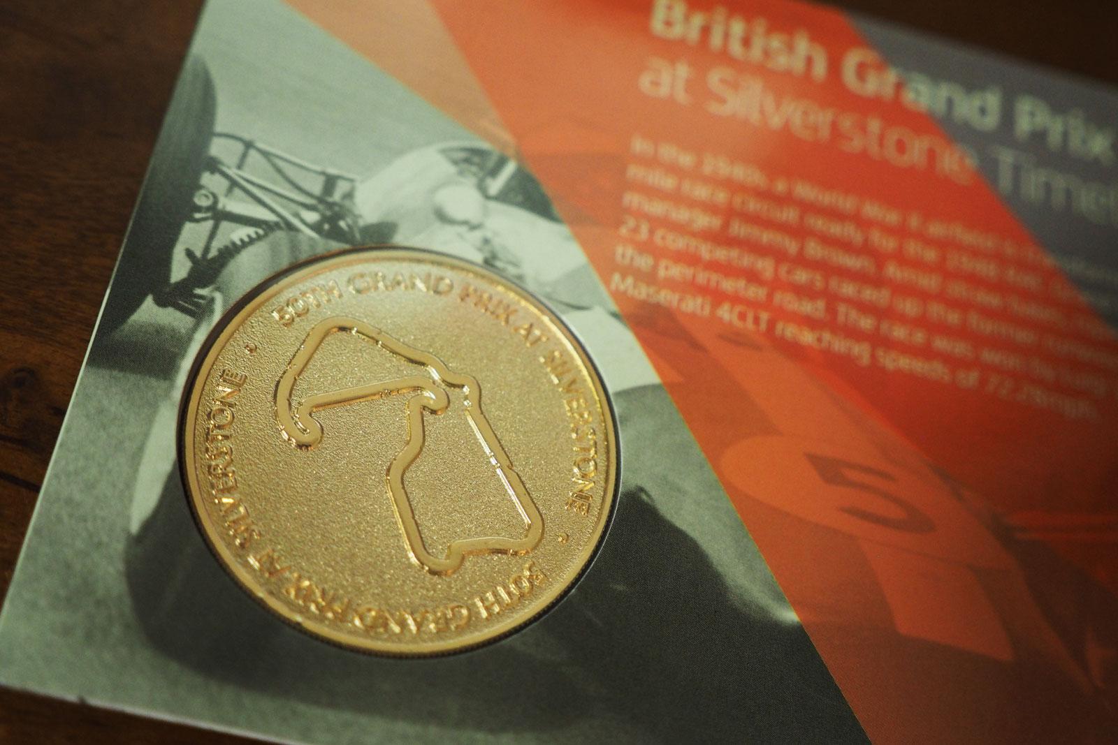 シルバーストン第50回イギリスGP開催記念コイン